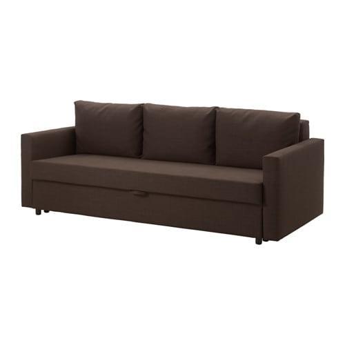 Ikea Metalen Slaapbank.Friheten 3 Seat Slaapbank Brown Shiftebu 304 115 52 Reviews