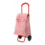 KNELLA shopping bag on wheels - red / white