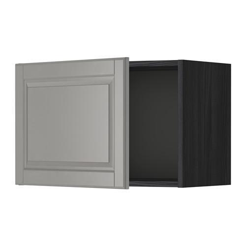 МЕТОД Шкаф навесной - 60x40 см, Будбин серый, под дерево черный