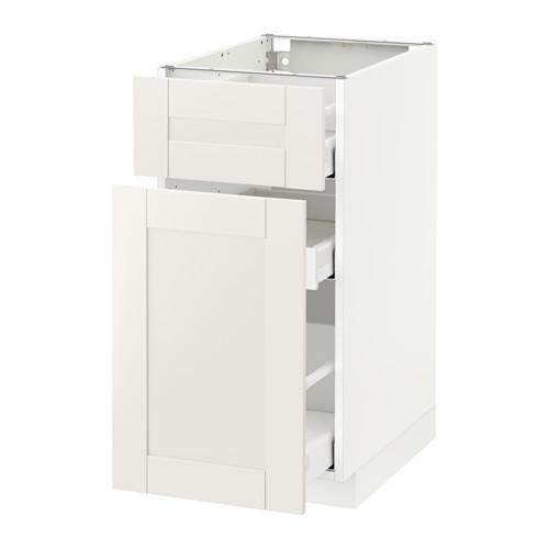 МЕТОД / МАКСИМЕРА Напольн шкаф/выдвижн секц/ящик - 40x60 см, Сэведаль белый, белый