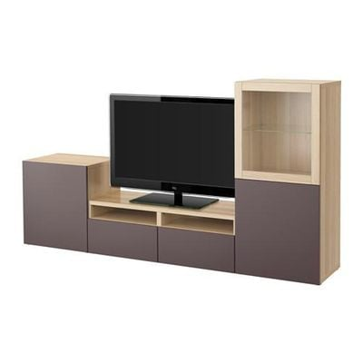 best tv schrank kombinierte glast r ein gebleichter. Black Bedroom Furniture Sets. Home Design Ideas