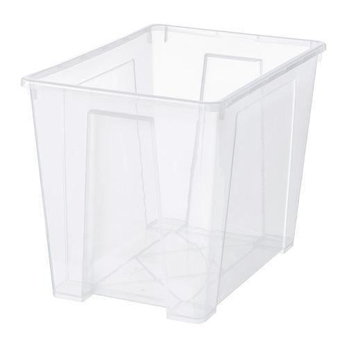 САМЛА Контейнер - прозрачный, 57x39x42 см/65 л