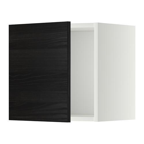 МЕТОД Шкаф навесной - 40x40 см, Тингсрид под дерево черный, белый