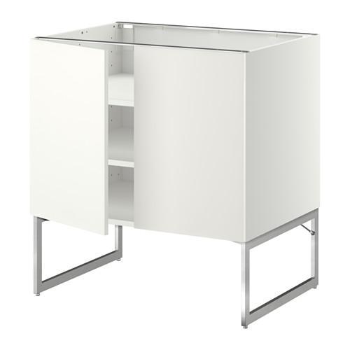 МЕТОД Напол шкаф с полками/2двери - 80x60x60 см, Хэггеби белый, белый