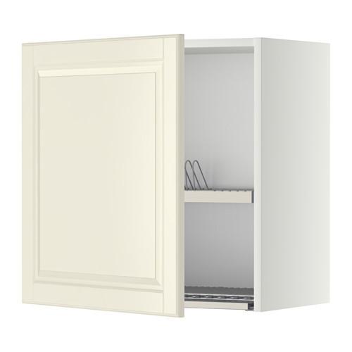 МЕТОД Шкаф навесной с сушкой - 60x60 см, Будбин белый с оттенком, белый