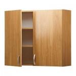 АЛЬБРУ Навесной шкаф с дверями - под дуб