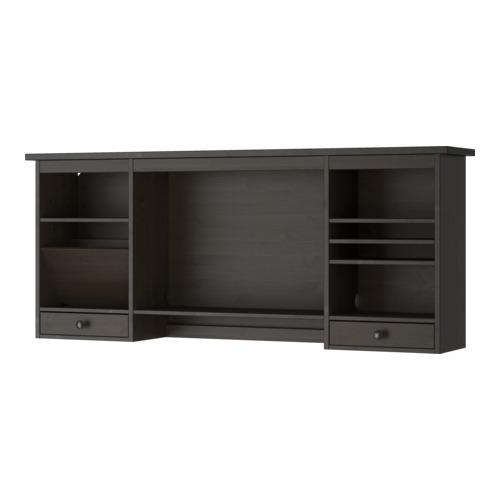 ХЕМНЭС Дополнительный модуль для стола - черно-коричневый