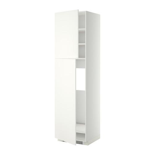 МЕТОД Высокий шкаф д/холодильника/2дверцы - 60x60x220 см, Хэггеби белый, белый