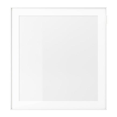 ГЛАССВИК Стеклянная дверь - белый/прозрачное стекло
