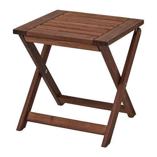 ÄPPLARÖ scaun de grădină pătată maro pliantă