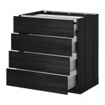 VERFAHREN / FORVARA Schränke / 4front PNL / 4yaschika - 80x60 cm Tingsrid Holz schwarz, Holz schwarz