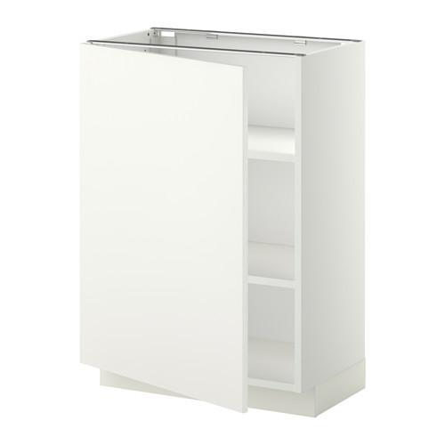 МЕТОД Напольный шкаф с полками - 60x37 см, Хэггеби белый, белый