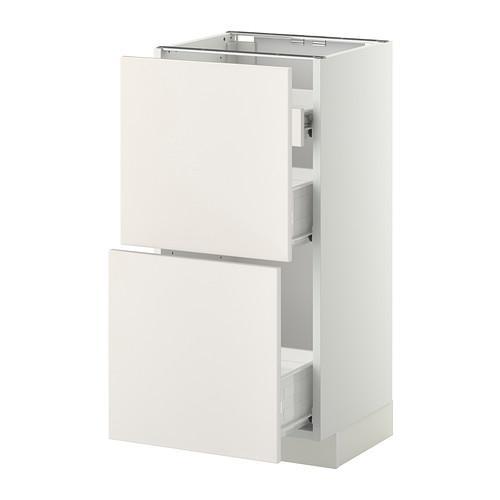 VERFAHREN / FORVARA Nap Schrank 2 FRNT PNL / 1nizk / 2sr Schubladen - weiß, weiß Hochzeit, 40x37 cm