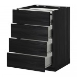 Método / FORVARA gabinetes de piso / 4front PNL / 4yaschika - 60x60 cm de madera Tingsrid negro, de madera negro