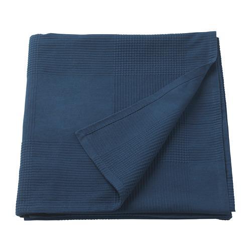 ИНДИРА Покрывало - темно-синий, 150x250 см