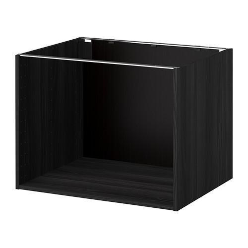 МЕТОД Каркас напольного шкафа - 80x60x60 см, под дерево черный