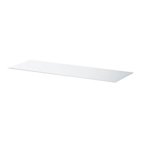 БЕСТО Верхняя панель - стекло белый, 120x40 см