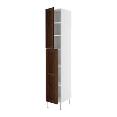 FAKTUM High cabinet with shelves - Rokkhammar brown, 40x233 see
