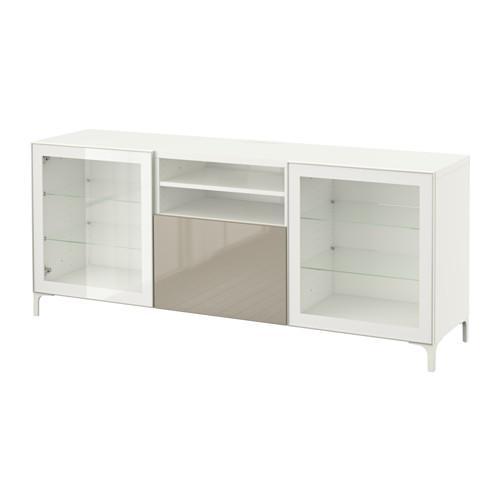 Best tumba d tv con cassetti bianco selsviken lucido vetro beige trasparente guide dei - Guide per cassetti ikea ...
