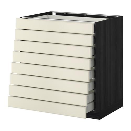 m thode maximer meuble complet 8 avant 8 tiroirs bas sous l 39 arbre noir budbin blanc avec. Black Bedroom Furniture Sets. Home Design Ideas