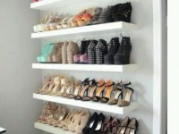 LACK shelves and shoe storage