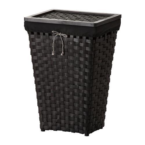 KNARRA Laundry basket with lining