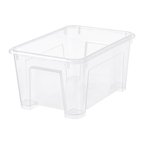 САМЛА Контейнер - прозрачный, 28x20x14 см/5 л