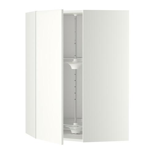 МЕТОД Угл нвсн шкф с вращающ секц - 68x100 см, Хэггеби белый, белый