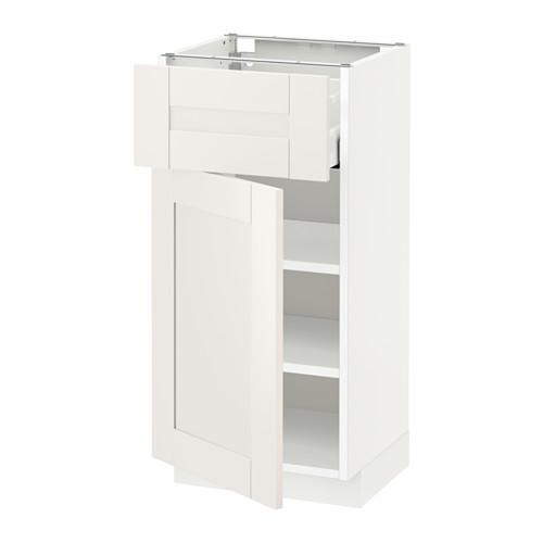 МЕТОД / МАКСИМЕРА Напольный шкаф с ящиком/дверью - 40x37 см, Сэведаль белый, белый