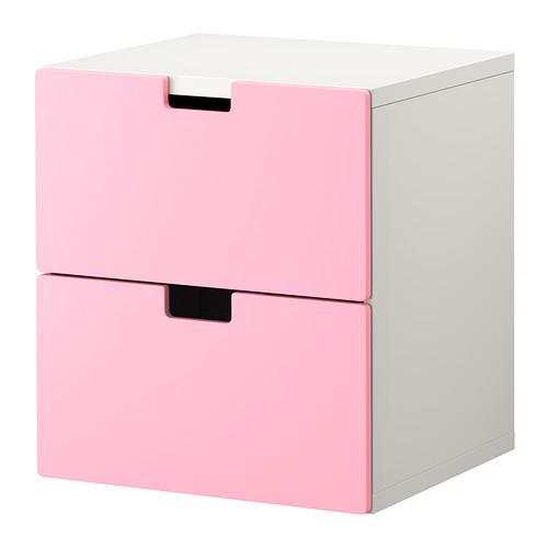 СТУВА Комод с 2 ящиками - розовый