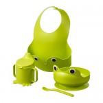 MATA набор посуды, 4 предм зеленый
