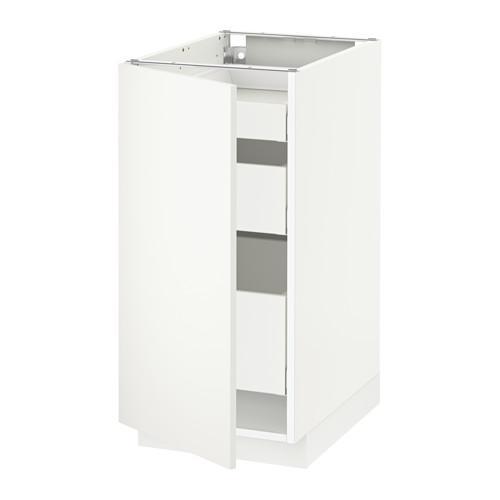 МЕТОД / МАКСИМЕРА Напольный шкаф с 1двр/3ящ - 40x60 см, Хэггеби белый, белый