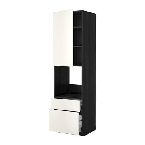YÖNTEM / MAKSİMER Yüksek shk d / dhvk + dvr / 2frnt / 1srd / 1s kutu - ahşap siyahı, Düğün beyazı, 60x60X220 cm