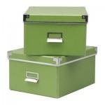 КАССЕТ Коробка для бумаг с крышкой - зеленый