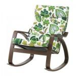 Kursi goyang - coklat, hijau