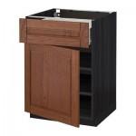 МЕТОД / ФОРВАРА Напольный шкаф с ящиком/дверью - 60x60 см, Филипстад коричневый, под дерево черный