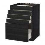 METHOD / FLOOR FORVARA wk d / var Panel / 5fasad / 4yasch - Holz schwarz, Tingsrid Holz schwarz, 60x60 cm