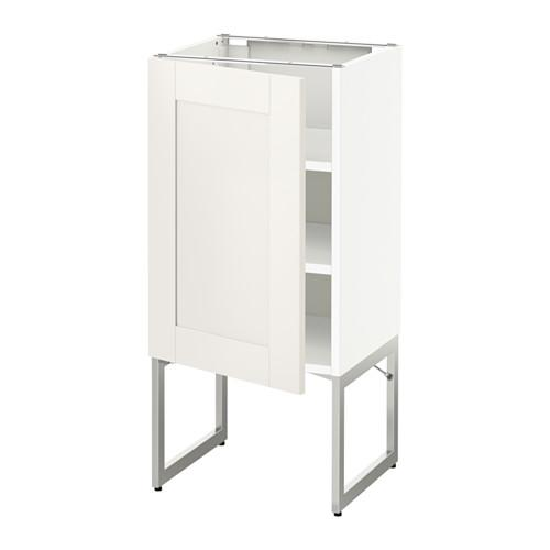 МЕТОД Напольный шкаф с полками - 40x37x60 см, Сэведаль белый, белый