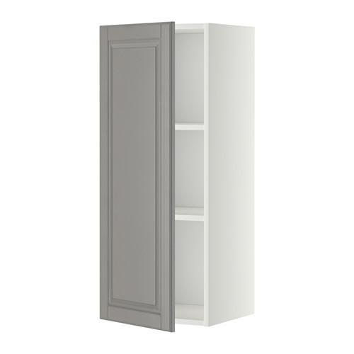 МЕТОД Шкаф навесной с полкой - 40x100 см, Будбин серый, белый
