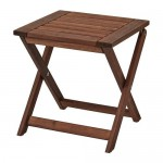 ÄPPLARÖ garden stool folding brown stain