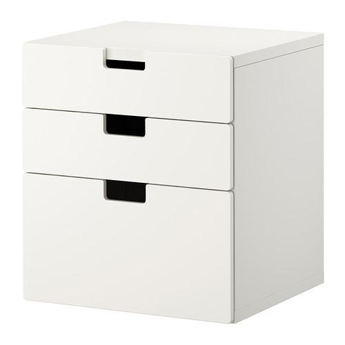 СТУВА Комод с 3 ящиками - белый