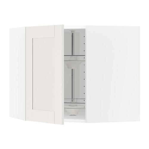 МЕТОД Угл нвсн шкф с вращающ секц - 68x60 см, Сэведаль белый, белый