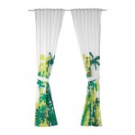 DJUNGELSKOG curtains with grip, 1 pair