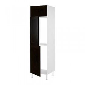 ФАКТУМ Выс шкаф для хол/мороз с 3 дверями - Рамшё черно-коричневый, 60x233/35 см