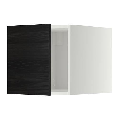 МЕТОД Верхний шкаф - Тингсрид под дерево черный, белый