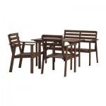 ТУЛЛЕРО Стол, скамья и 2 кресла