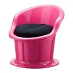 ПОПТОРП Кресло с подушкой-сиденьем - розовый/черный
