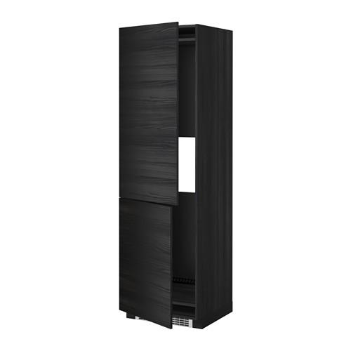 МЕТОД Выс шкаф д/холодильн или морозильн - 60x60x200 см, Тингсрид под дерево черный, под дерево черный