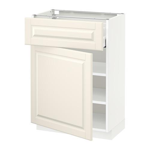МЕТОД / МАКСИМЕРА Напольный шкаф с ящиком/дверью - 60x37 см, Будбин белый с оттенком, белый