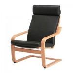 Poeng Armchair - Smidig black, beech veneer